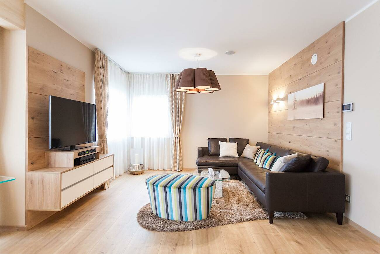 Musterhaus Classic 157 S - Dachfirst offen - Wohnzimmer