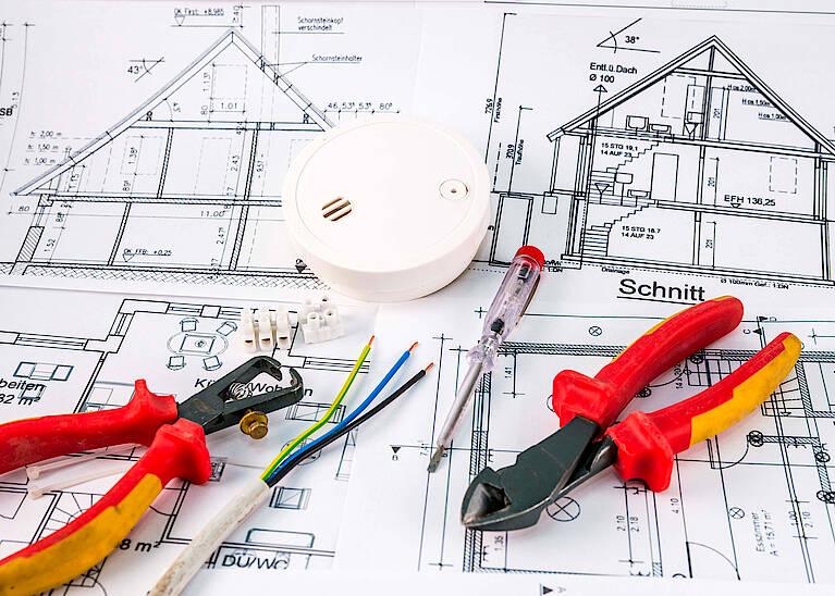 Plan für die Elektroinstallation