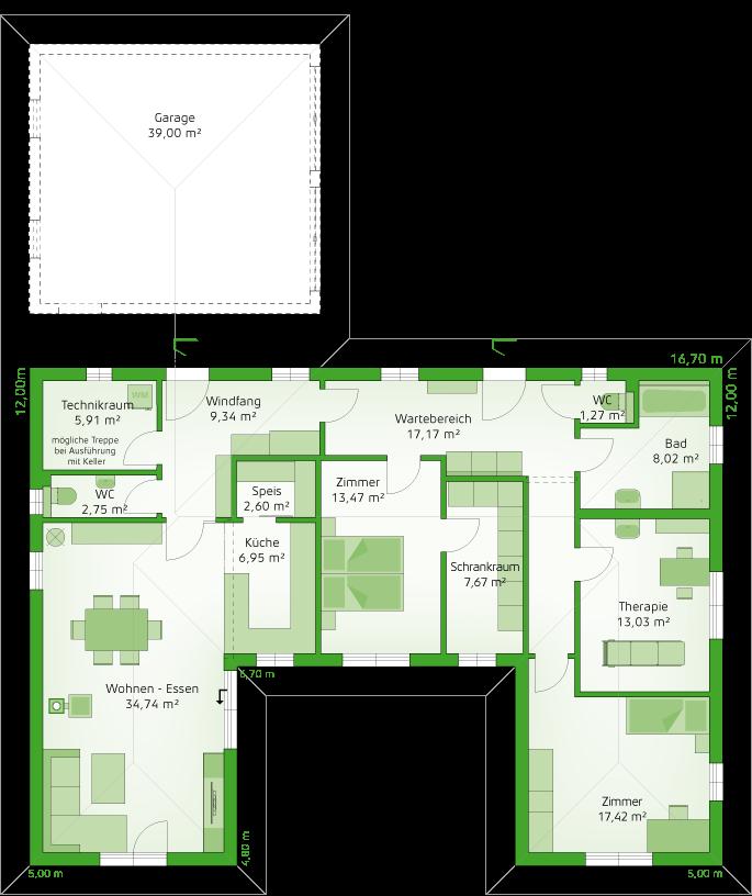 Variante Praxix - Erdgeschoss