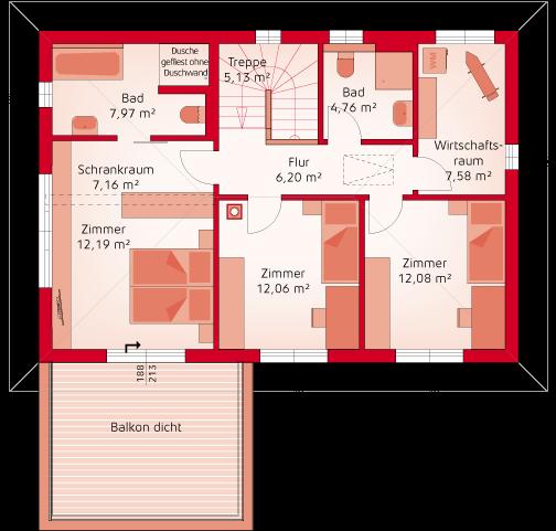 New Life - Musterhausvariante Poing Obergeschoss
