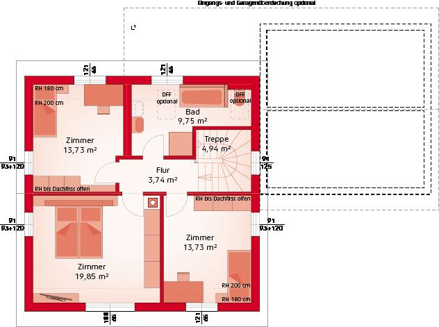 Classic 133 S Dachfirst offen - Dachgeschoss