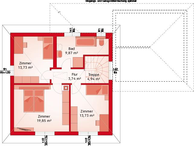 Classic 132 W - Obergeschoss