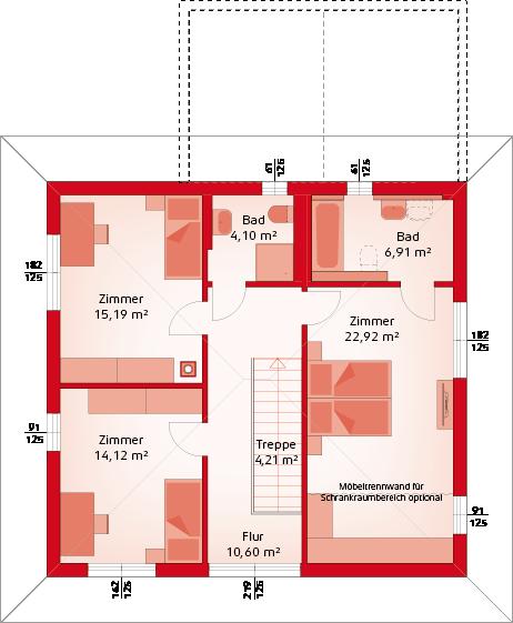 Variante ohne Erker Obergeschoss