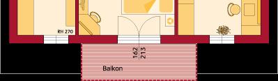 Dachgeschoss Variante mit Balkon