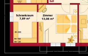 Dachgeschoss Variante mit Seitengiebel