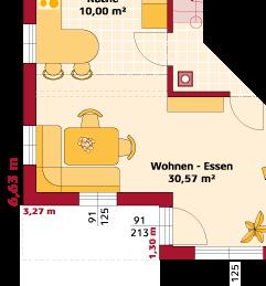 Erdgeschoss Variante Terrassenrücksprung