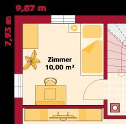 Erdgeschoss Variante zusätzl. Zimmer