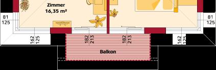 Obergeschoss Variante mit Balkon