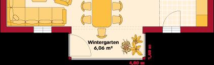 Erdgeschoss Variante mit Wintergarten