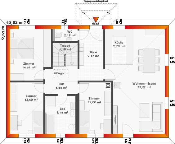 Basis-Erdgeschoss