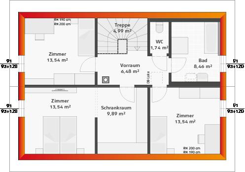 Basis-Dachgeschoss (24° DN)
