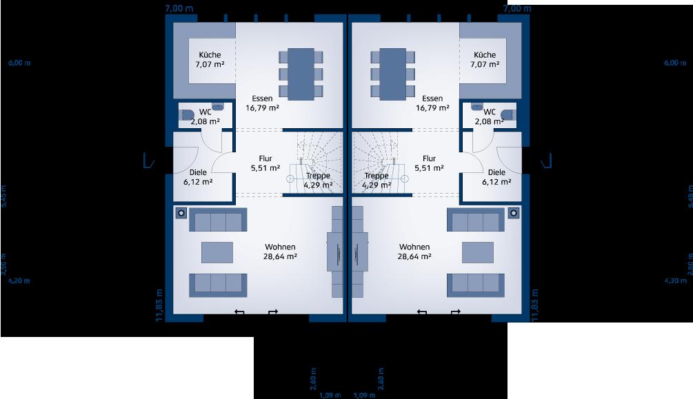 doppelhaus 140 w. Black Bedroom Furniture Sets. Home Design Ideas