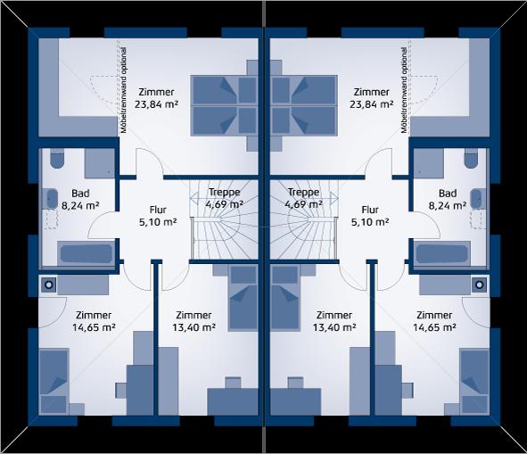 Reihenhaus grundriss modern trendy large size of for Grundriss doppelhaus modern