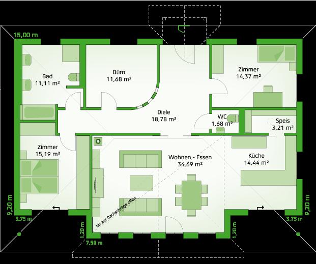 Variante MH Lagune 2 - Erdgeschoss