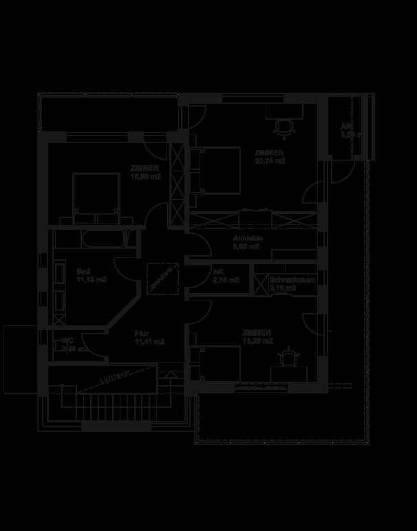 Variante - Obergeschoss