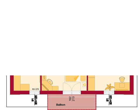 Dachgeschoss Variante mit Balkon auf Erker