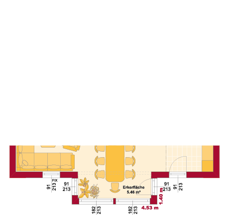 Erdgeschoss Variante mit Erker