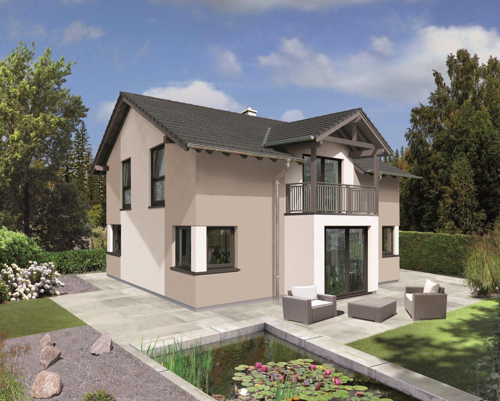 Trend 129 S - 24° Dachneigung, Erker im EG, Balkon im DG und Eckfenster Classic