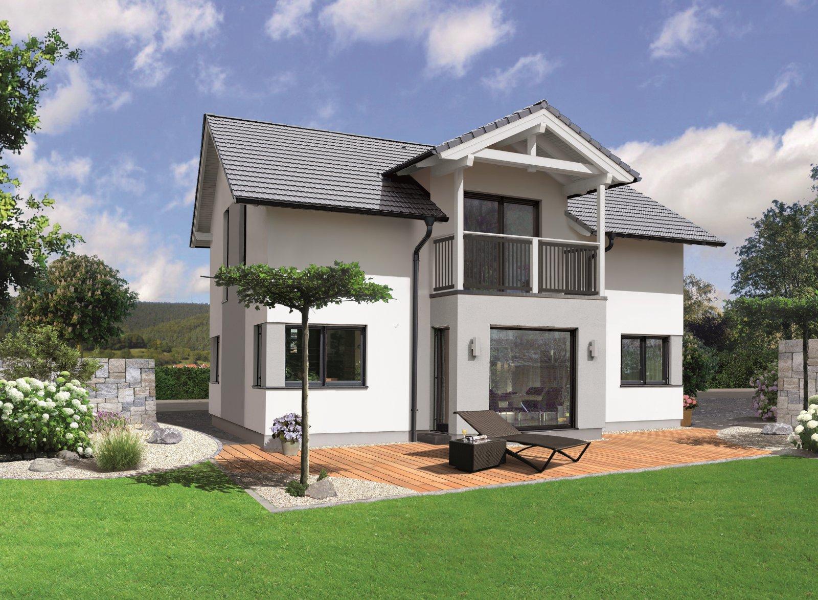 Trend 146 S - 24° Dachneigung, Erker im EG, Balkon im DG und Eckfenster Classic