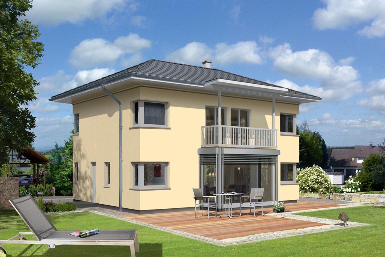 Trend 146 W mit Balkon und Wintergarten - Fassaden-Farbvariante